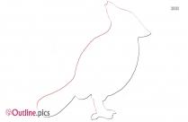 Poppy Bird Outline Pic