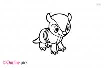 Cartoon Animal Outline Vector