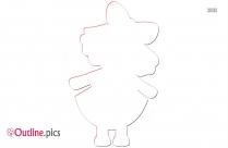 Cartoon Baby Girl Outline