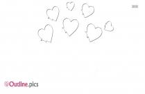 Cartoon Broken Heart Crown Outline