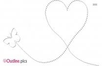 Cute Little Hearts Border Vector Outline