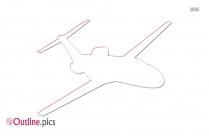 Cartoon Cartoon Airplane Outline