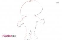 Cartoon Character Dora Outline Vector