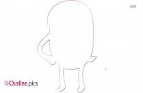 Cartoon Character Jerry Outline Vector