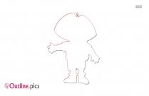 Dora The Explorer Vector Outline