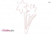 Cartoon Daffodil Outline Free Vector Art
