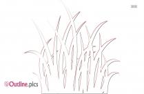 Cartoon Dead Grass Outline