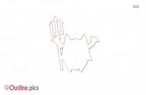 Cartoon Devil Outline For Coloring