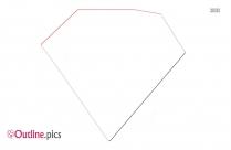 Cartoon Diamond Outline Design