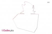 Cartoon Dj Outline Free Vector Art