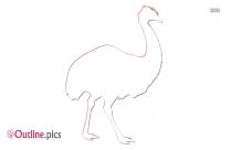 Cartoon Emu Clipart Outline, Bird Printable
