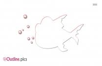 Cartoon Fish Clipart || Piranha Outline Image