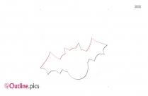 Cartoon Flying Bat Outline Image