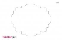 Black And White Decorative Label Outline