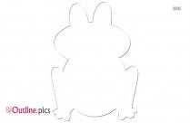 Cartoon Frog Outline Free Vector Art