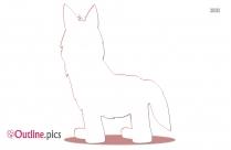 Hyper Dog Outline Drawing