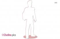 Cartoon Handsome Prince Outline