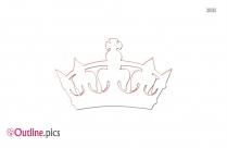 Cartoon King Crown Stencil Outline