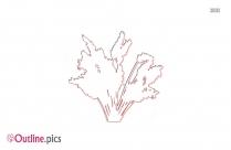 Flower Vase Outline Art