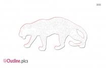Cartoon Leopard Outline Clipart