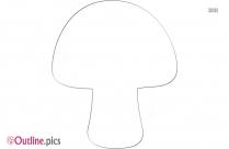Cartoon Mushroom Outline For Coloring