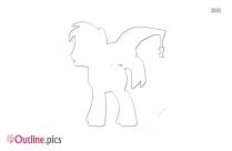 Cartoon Princess Pooh Outline