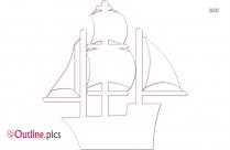 Cartoon Ship Outline Image