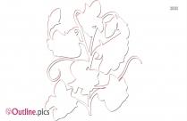 Geranium Flowers Outline Sketch