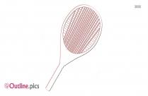Cartoon Tennis Racket Outline