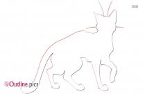 Cartoon Warrior Cat Outline