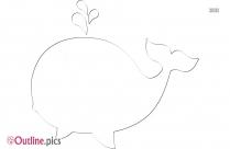 Cartoon Whale Outline Clip Art