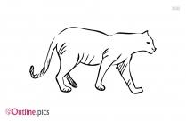 Cartoon Cat Outline Clipart