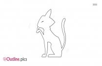 Standing Cat Outline