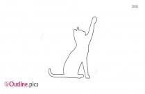 Black Cat Outline Clipart