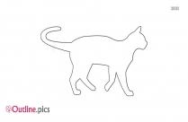 Cat Outline Easy