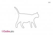 Retro Cat Outline