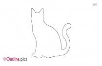 Cat Sitting Outline