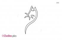 Horse Head Outline Tattoo