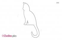 Cat Outline Art