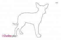 Cattle Dog Outline