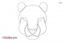 Cheetah Head Outline