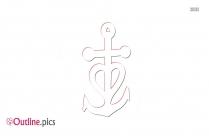 Christian Anchor Symbol Outline Image