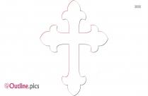 Christian Fancy Cross Outline Art