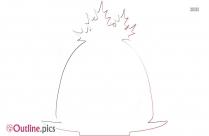 Christmas Pudding Outline Design