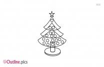 Beautiful Christmas Tree Outline