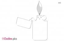 Cigarette Lighter Outline Picture