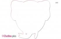 Circle Elephant Head Outline Image