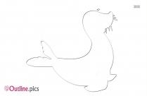 Elephant Outline Illustration