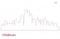 Cityscape Outline Clipart