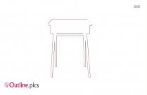 Classroom Desk Outline Free Vector Art